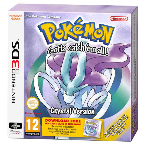 Pokémon Crystal 3DS kansikuva
