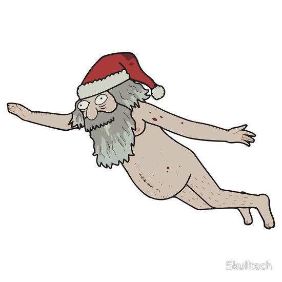 Rick & Morty Giant Naked Santa Pinssi