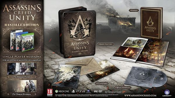 Assassin's Creed: Unity Bastille Edition PS4 (käytetty)