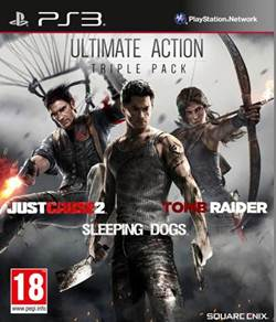 Ultimate Action Triple Pack PS3 (Just Cause 2 + Sleeping Dogs + Tomb Raider)