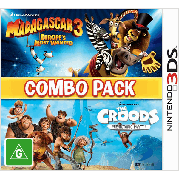 Madagascar 3 & The Croods Combo Pack 3DS