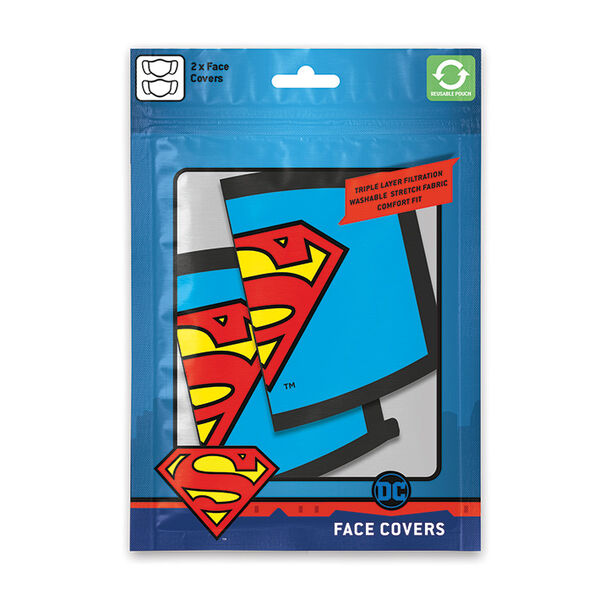 DC Superman Kasvomaski 2-pack