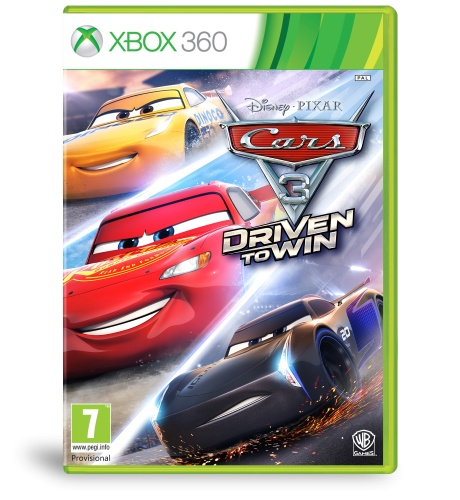 Cars 3: Driven to Win Xbox 360 kansikuva