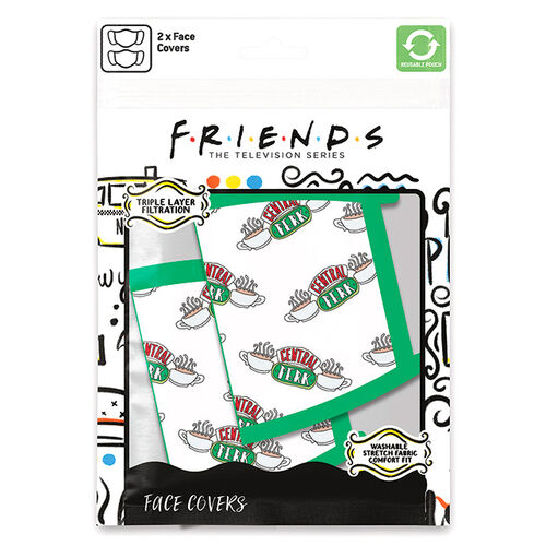 Friends Central Perk Kasvomaski 2-pack