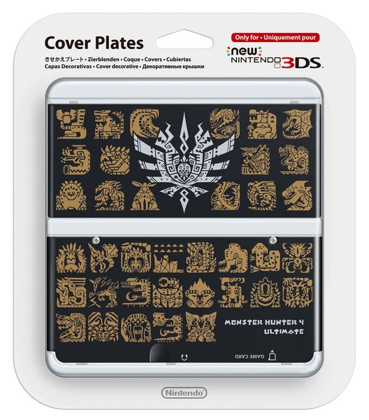 New Nintendo 3DS cover plate Monster Hunter 4 Ultimate Black