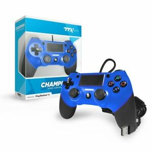 TTX PS4 Champion Wired Controller Blue