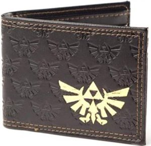 The Legend of Zelda Embossed Bifold Gold Foil Logo Wallet